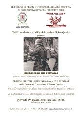 60° anniv. eccidio s.quirico 2004 con Marino Filippo Arrigoni e Eva Tonfoni